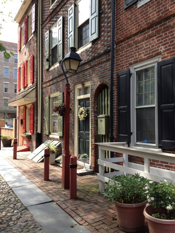 Elfreth's Alley, the nation's oldest residential street dating back to 1702