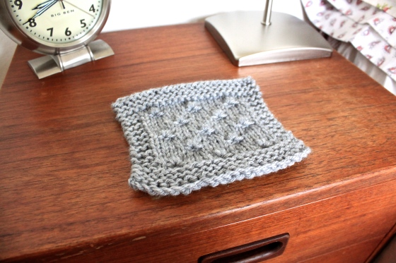 How To Knit A Coaster Scissors Sage