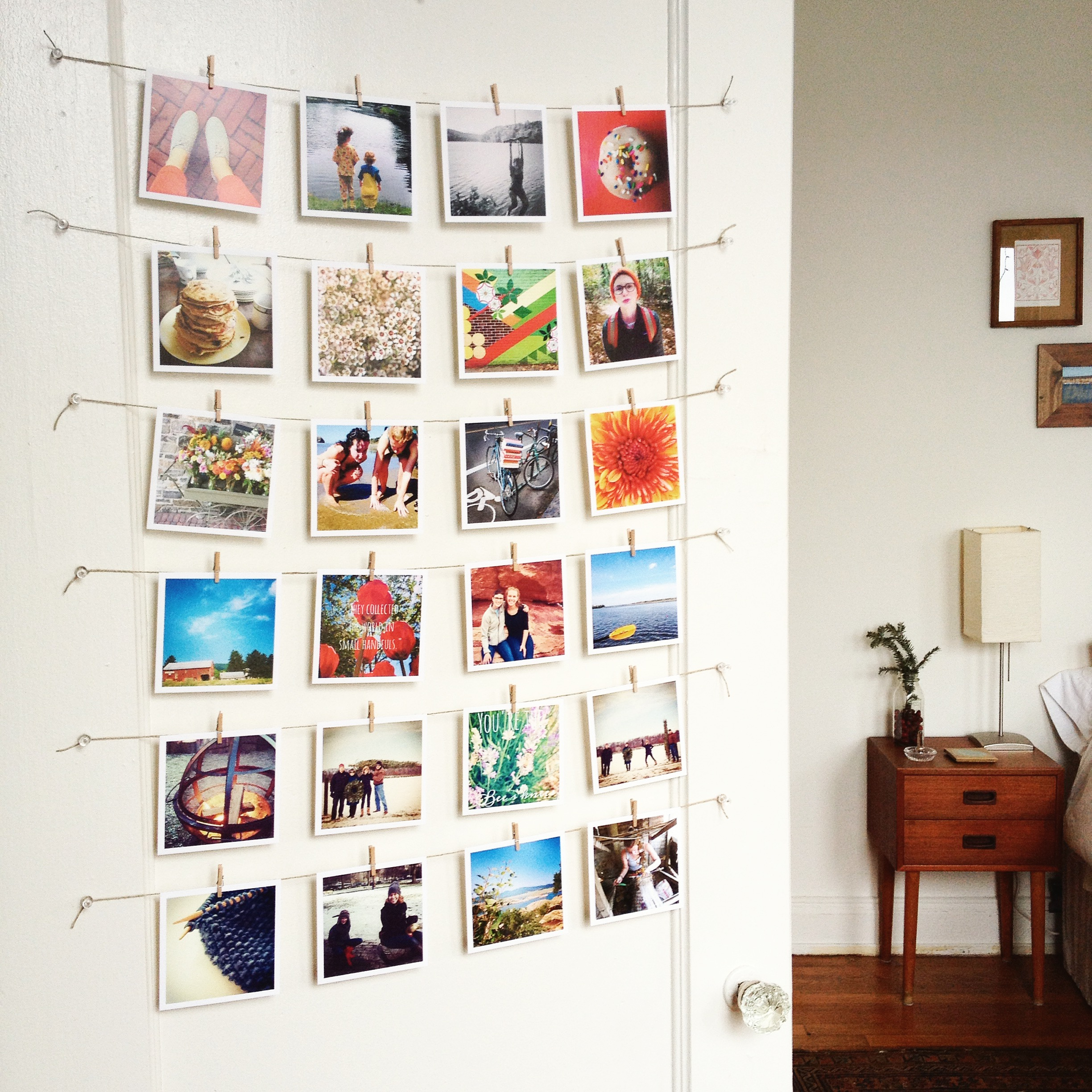 Living Room How To Decorate With Photos decorate with sticky9 square prints craftgawker prints