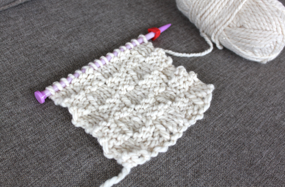 How To Knit A Basketweave Scarf Scissors Sage