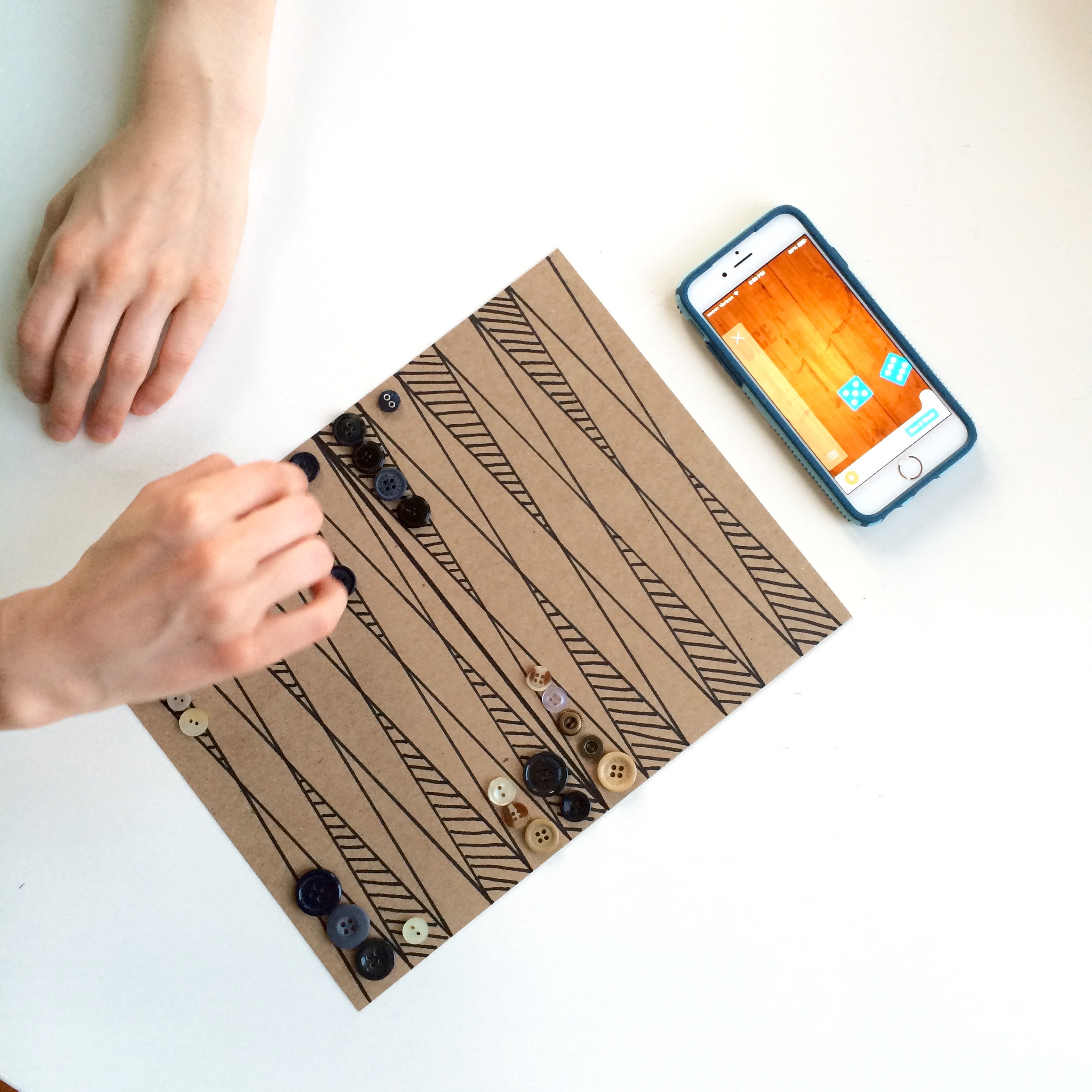 This is a photo of Agile Printable Backgammon Board